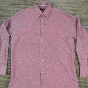 Canali Men's Button Up Dress Shirt size Large